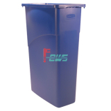 Rubbermaid FG354000 Slim Jim 垃圾桶 - 无把手 (蓝色)