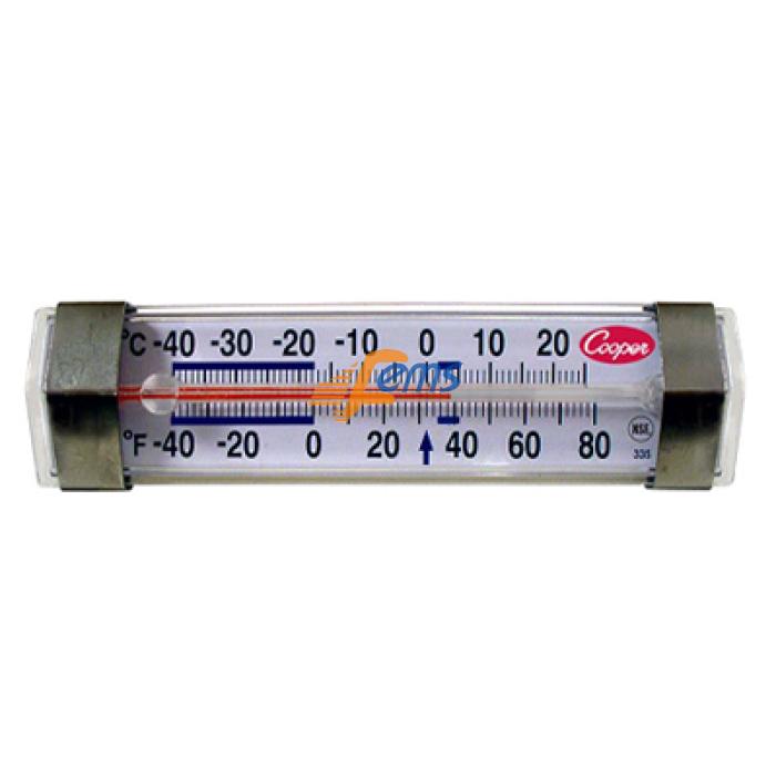 Cooper-ATKINS 335-01 冷柜、冷库水平温度计(透明管)(摄氏/华氏)