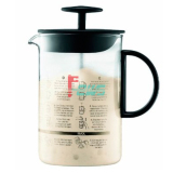 咖啡●伙伴 1366-01 大型拉奶泡器(黑色)Q