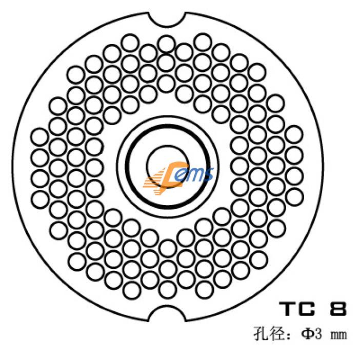 SIRMAN TC 8 TC 8 孔径3毫米不锈钢刀盘(双槽)