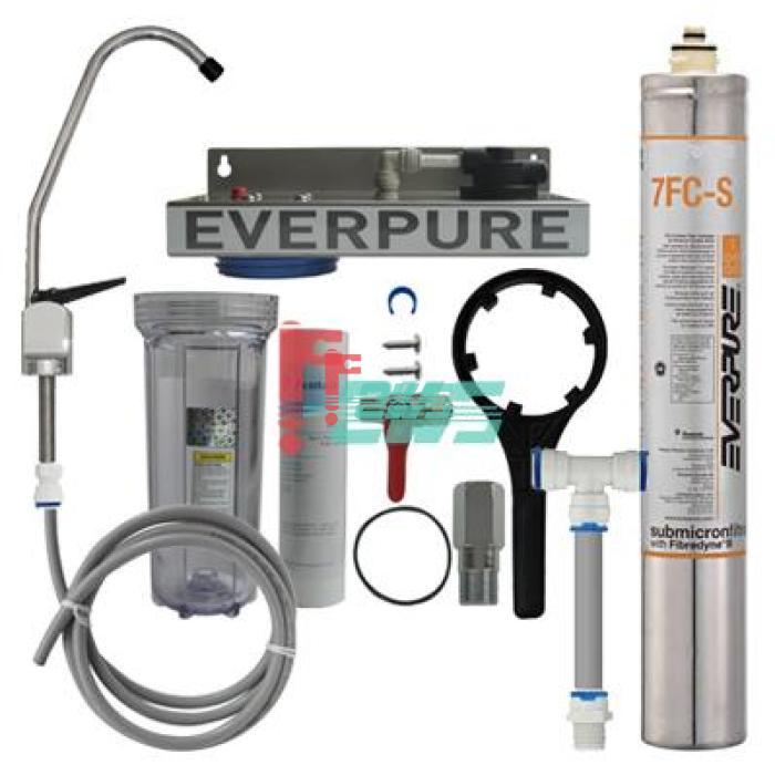 Everpure 621114-34 7FC-S 单头净水器(透明桶/扳把龙头)