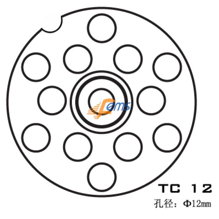 SIRMAN TC 12 TC 12 孔径Φ12 mm不锈钢刀盘(单槽)