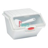 Rubbermaid FG9G6000 40杯层架式食品原料贮存桶 (白色)