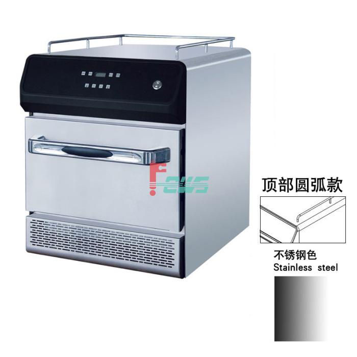 瞬速 SS-SC10-S 微波热风面火炉圆弧版(小型/不锈钢色)