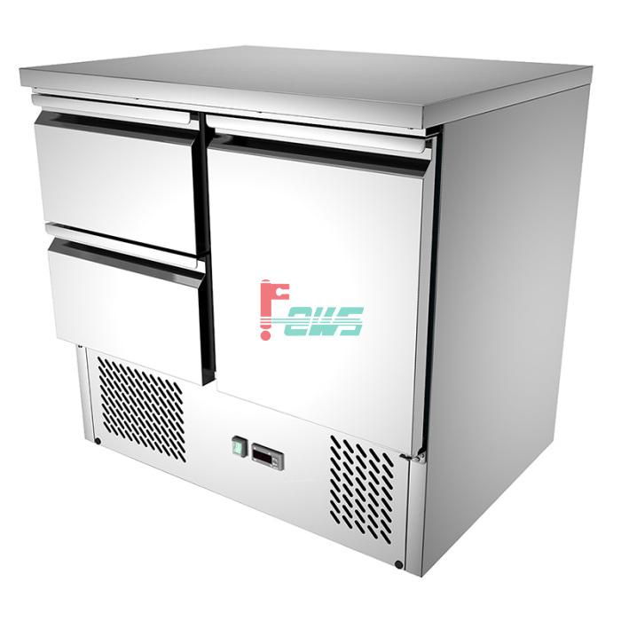 Teccold TGS-900C2DC 单门二屉直冷移动工作台 (GN盘)